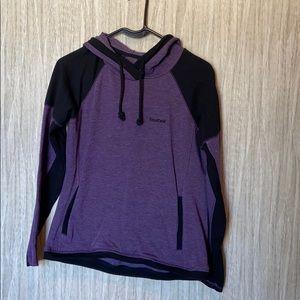 Purple and black sweatshirt
